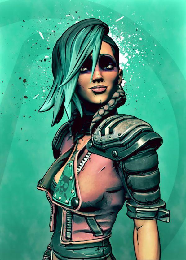"Borderlands Characters Lorelei #Displate artwork by artist ""BlueTodyArt"". Part of a set based on… | Displate thumbnail"