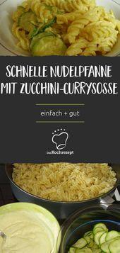 CurryNudelpfanne mit Zucchini  Mittagessen oder Abendessen Einfach schnell und leckere
