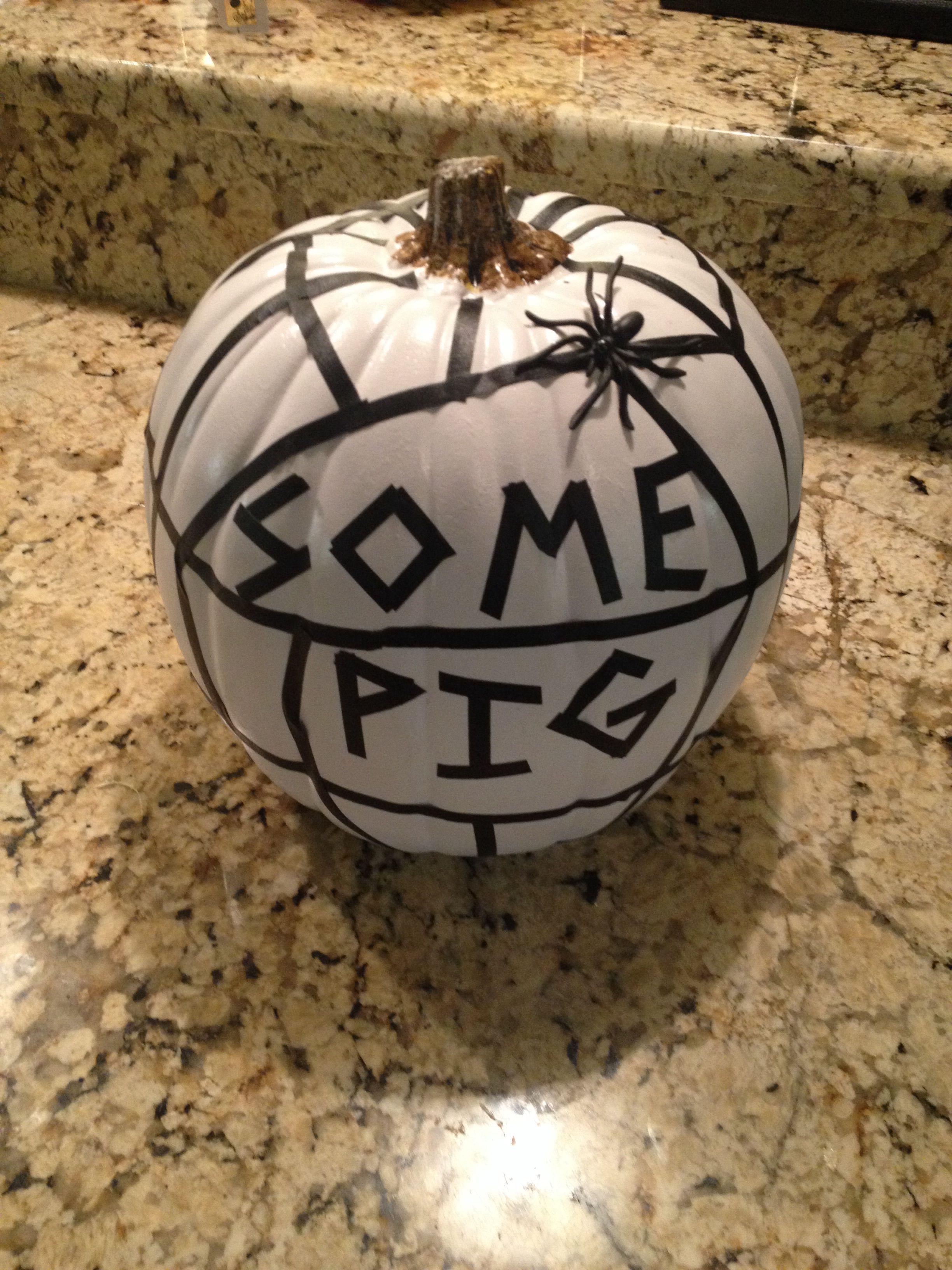 Charlotte Web Themed Pumpkin