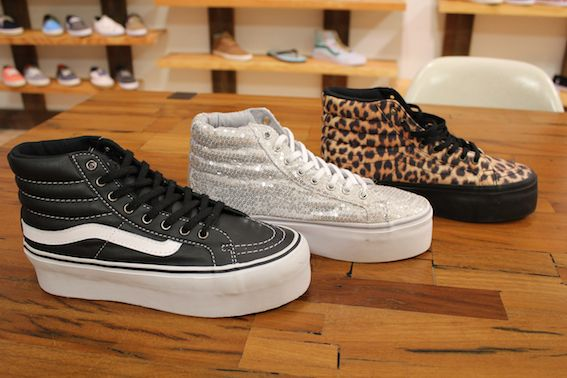 The Vans SK 8 Hi platform will be available for Holiday '12