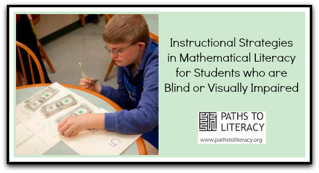 6 tips for teaching mathematical literacy to students who are blind or visually impaired.