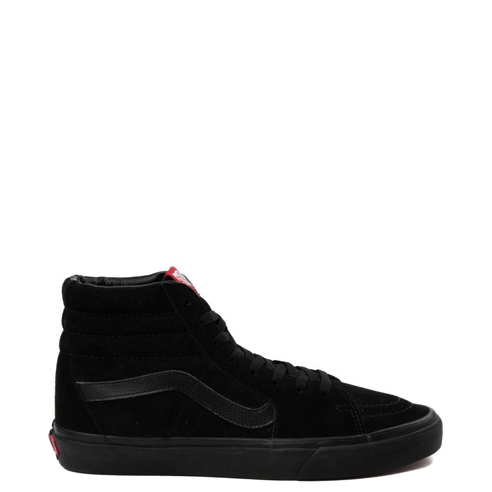 Vans Sk8 Hi Skate Shoe Black Monochrome | Skate shoes