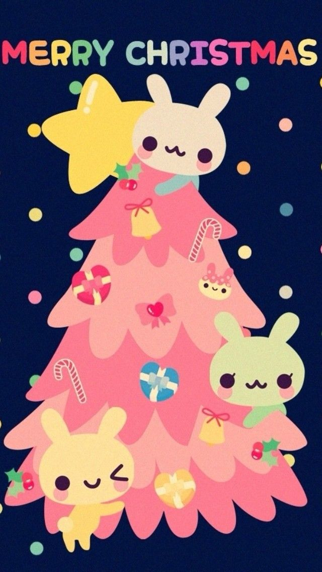 Kawaii Christmas Iphone Wallpaper | Reviewwalls.co