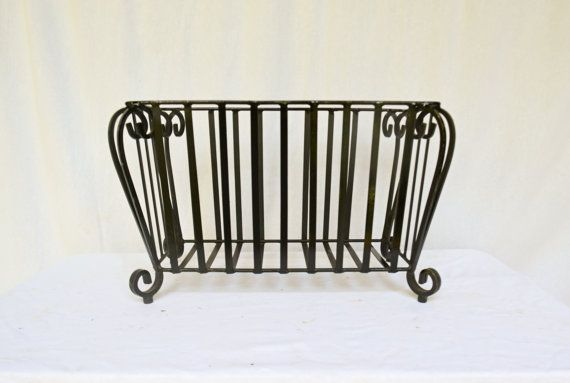 Metal Iron Plant Stand Vintage Rod By Vintentials