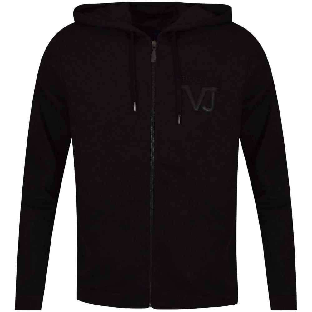 VERSACE JEANS Versace Jeans Black Zip Through Hoodie - Clothing from  Brother2Brother UK