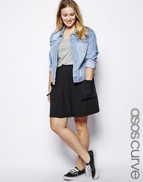f2d3da1c33b ASOS Curve plus size outfit - I m really starting to like skirts dresses  with sneakers!