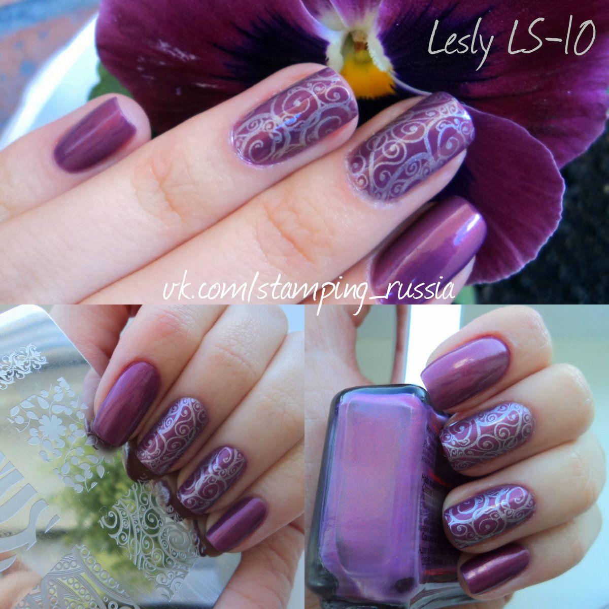Lesly Stamping Nail Art - (Lesly Plate/Tile - LS-10) | Stamping Nail ...