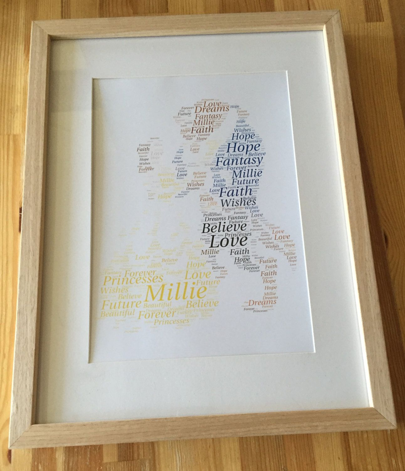 Framed Word Art Beauty And The Beast Disney Personalised Great Gift Idea For All Occasions Girls Birthday