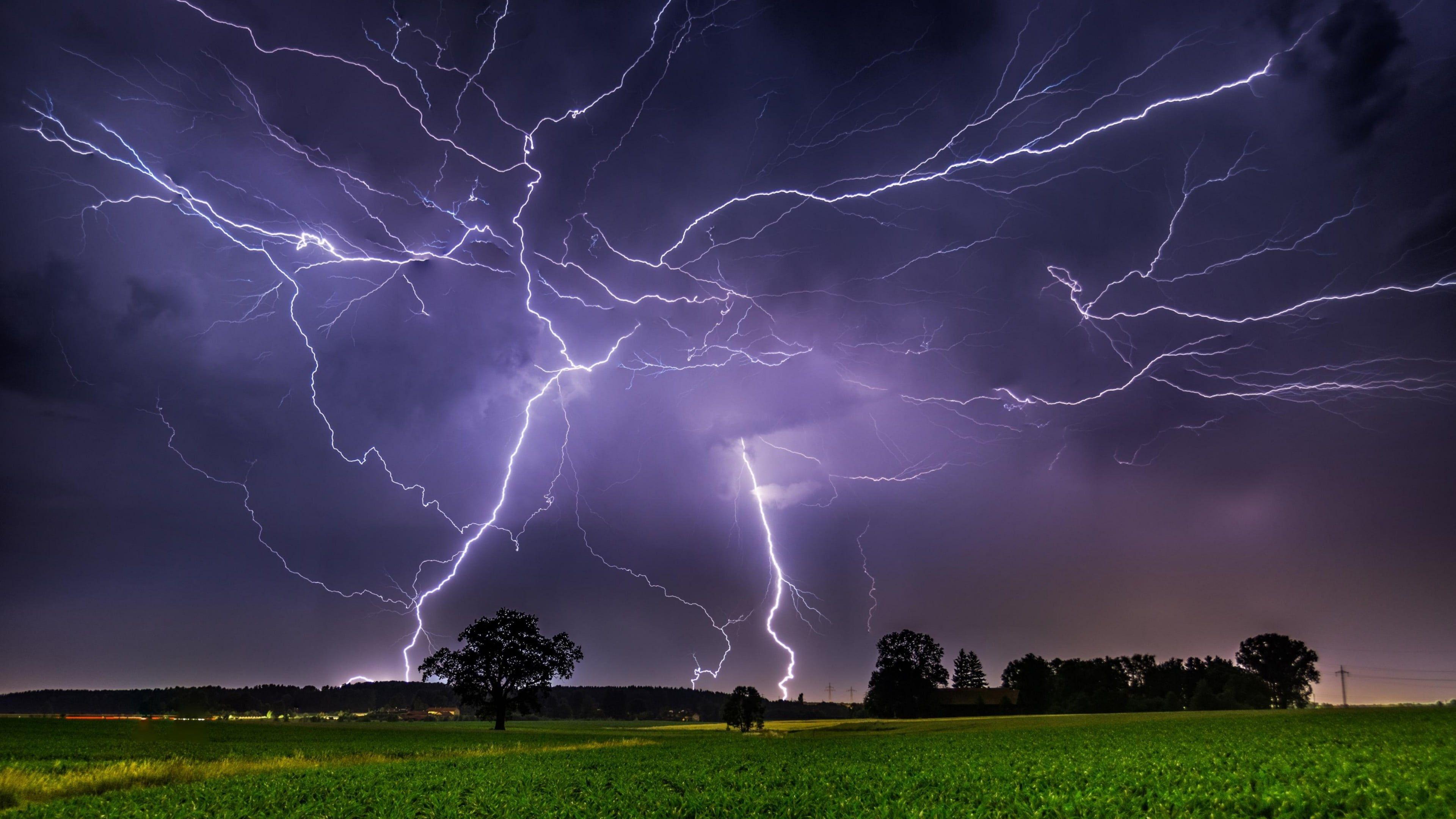 Lightning Thunder Thunderstorm Cloud Storm Landscape Night Evening Darkness 4k Wallpape Storm Wallpaper Storm Photography Thunderstorm And Lightning