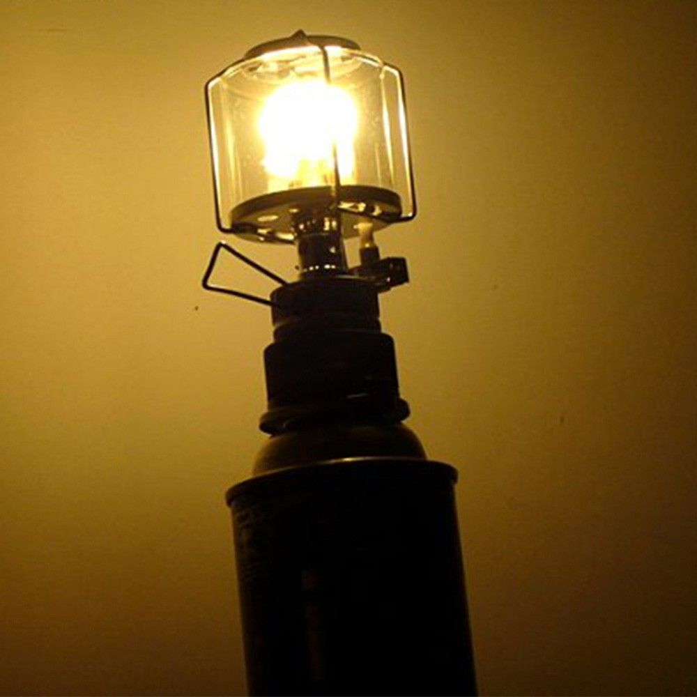 Mini Portable Camping Lantern Gas Light Tent Lamp Torch Hanging Glass Lamp Chimney Butane 80lux Us 20 86 Sales Online White Tomtop Gas Lights Glass Lamp Lamp