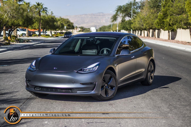 Tesla Model 3 Stealth Charcoal Incognito Wraps Tesla Model Tesla Tesla Car