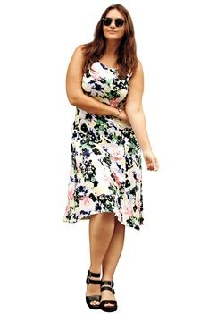 Plus Size Sleeveless Fit & Flare Dress