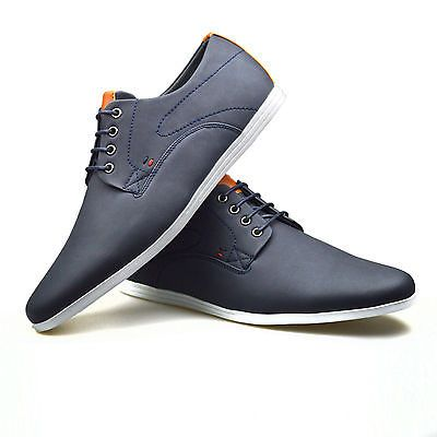 dab0223b8350 Mens Casual Smart Leather Lace Up Trainers Brogue Shoes Plimsolls 6 7 8 9  10 11