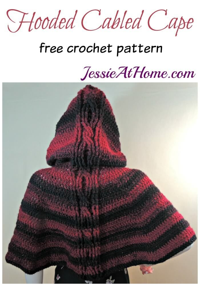 Hooded Cabled Cape | Crochet Patterns - General | Pinterest ...