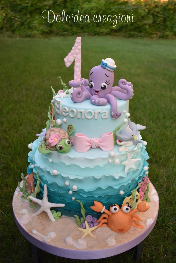 Groovy Under The Sea Cake By Dolcidea Creazioni Ocean Birthday Cakes Personalised Birthday Cards Sponlily Jamesorg