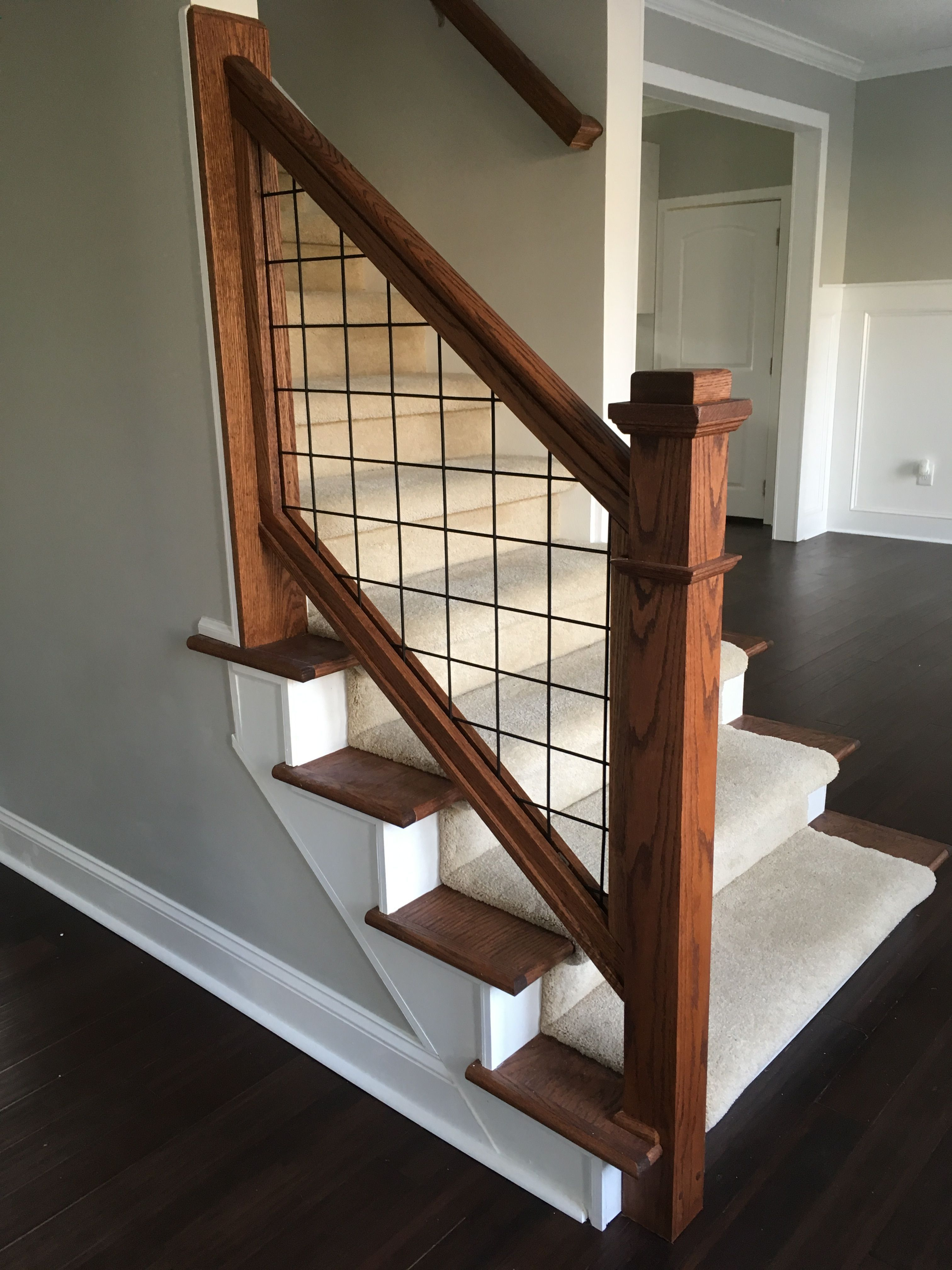 Image result for hogwire stair   Interior stair railing ...