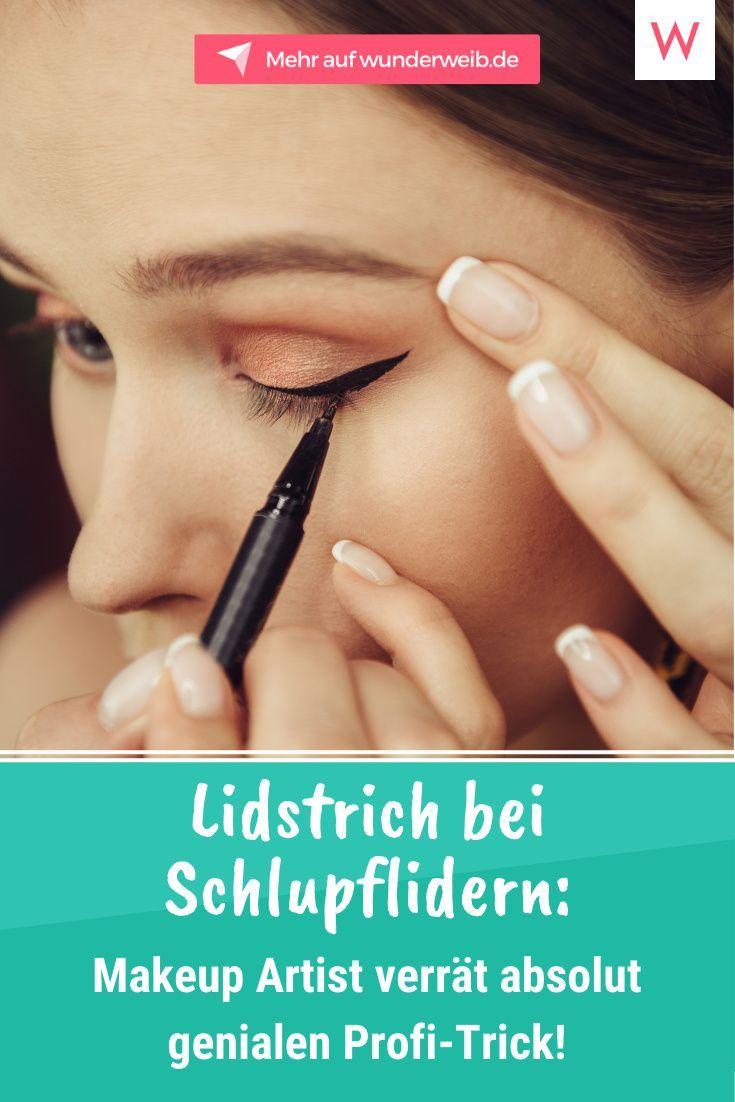 Lidstrich bei Schlupflidern: Maskenbildner verrat absolut genialen Profi-Trick!
