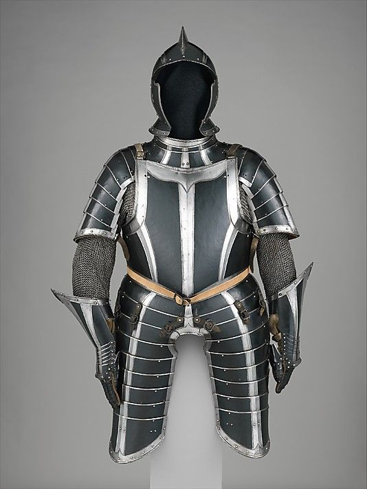 Historical Costumes - Armour from the latest stage of history. Multi-plated and very finely cut.