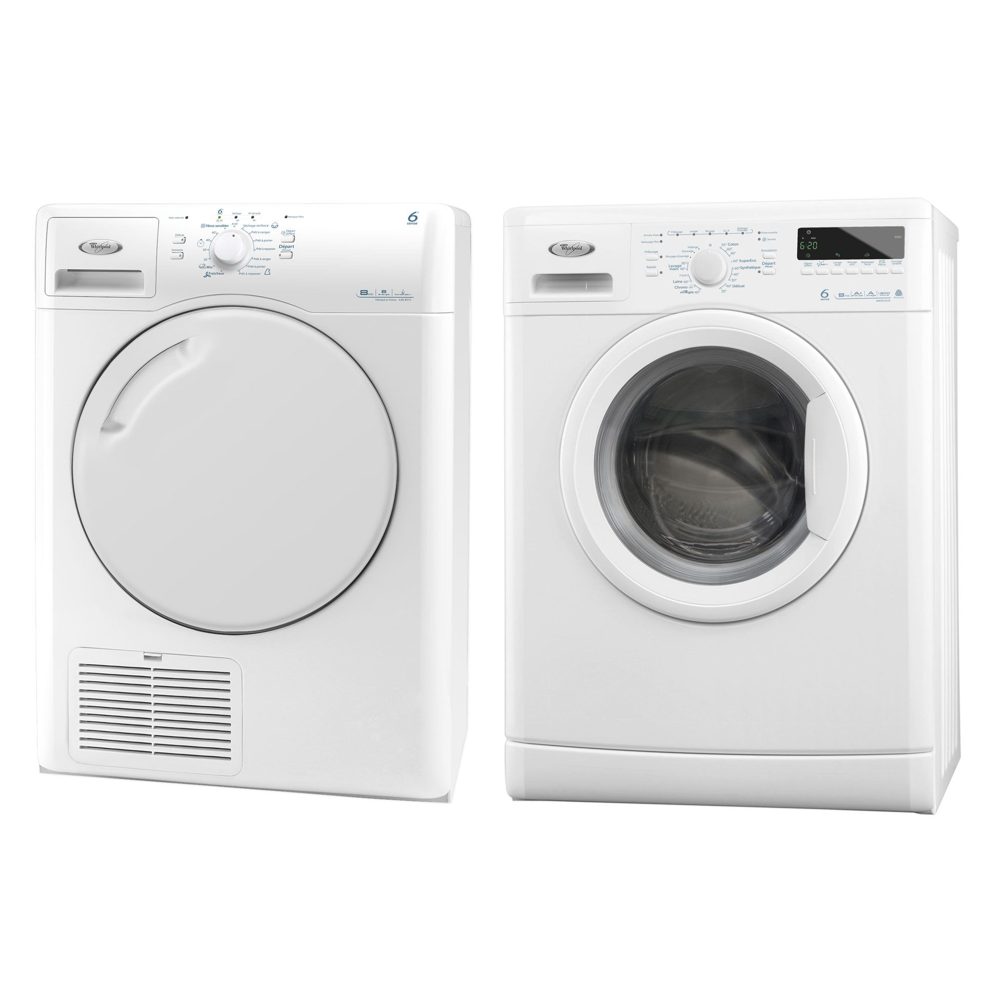 Pack lavage Whirlpool lave linge + Sèche linge - Pack lavage Delamaison - Ventes-pas-cher.com ...