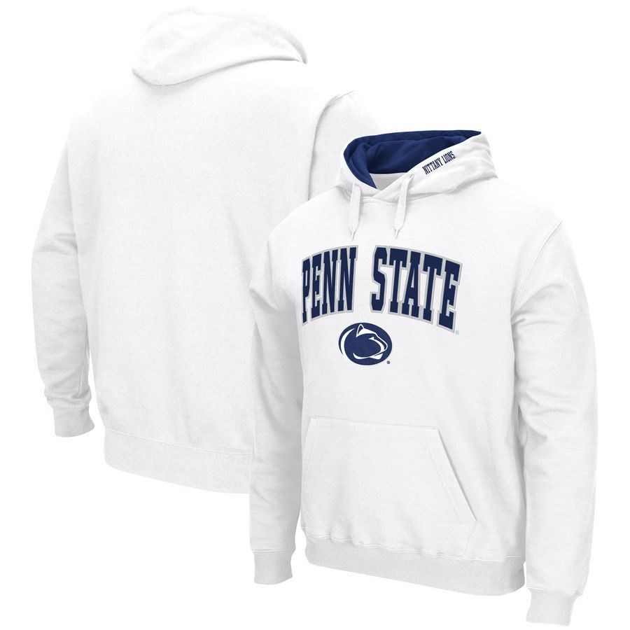 Penn State Nittany Lions Colosseum Arch Logo Tackle Twill Pullover Hoodie White State Sweatshirt State Hoodie White Hoodie [ 900 x 900 Pixel ]
