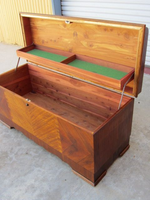 Art Deco Lane Cedar Chest Blanket Chest Trunk Antique ...