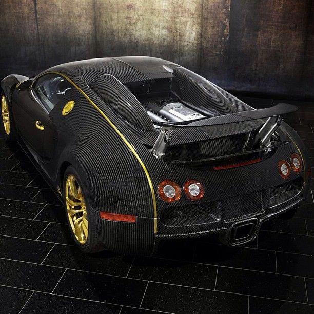 Carbon Fiber & Gold Bugatti