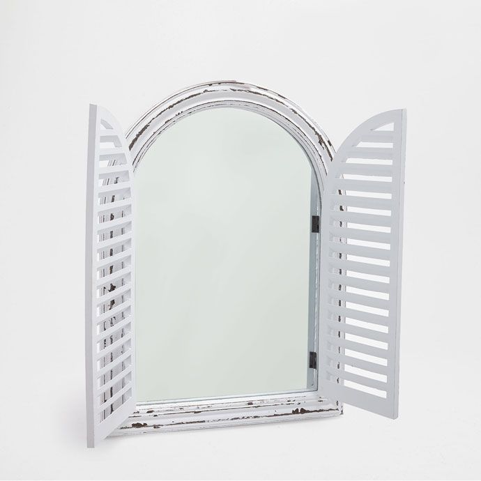 Afbeelding 1 Van Het Product Witte Spiegel Met Raameffect