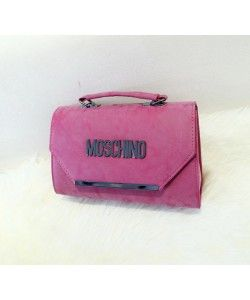 50f61198ce1 Moschino Nubuck Leather Women Medium Satchel Rose | Love Moschino ...