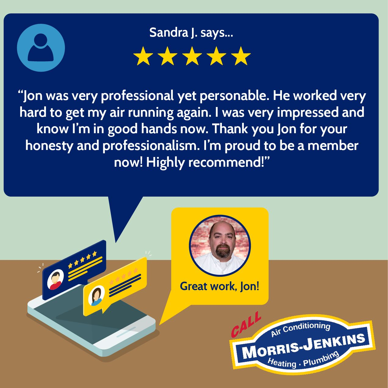 Way to go, Jon! Our core values (honesty, integrity