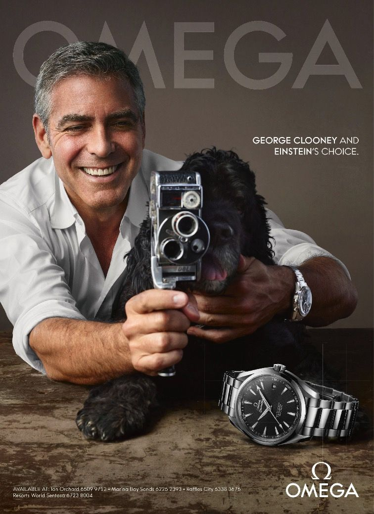 e283a5206bc7  GeorgeClooney is all smiles for  OMEGA charming timepiece campaign ad  Omega Seamaster