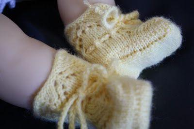 Busy Bessy Creatief: Gele sokjes Anemoon ... (tutorial)