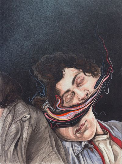The Greatest Print, Distorted Paintings     Henrietta Harris is a very talented illustrator  from Auckland, New Zealand. Henrietta paints this skewed series of watercolor portraits with this amazing distortion. The way she attained this interesting style is through an accident where she inadvertently dipped her paintbrush in her coffee. She then perfected this happy accident and turned it into a style. Be sure to check out more skillful renderings of Henrietta over at her main site, here.