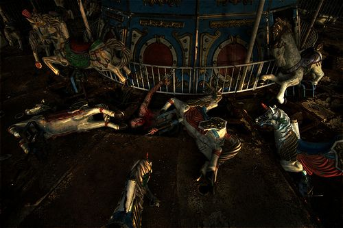 Grady's carousel, from a very eerie and slightly disturbing, but powerful collection of pictures