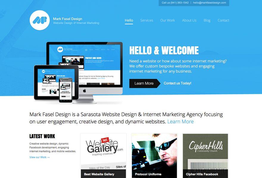 Mark Fasel Design In Sarasota Design Web Design Mobile Inspiration