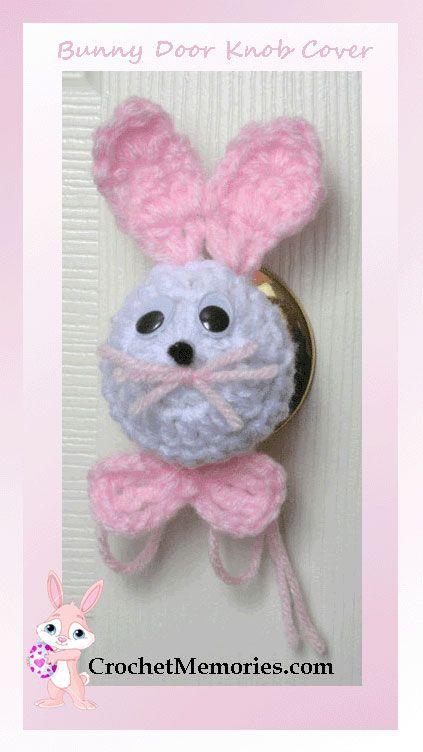 "I added ""Free pattern - Bunny Door Knob Cover"" to an #inlinkz linkup!http://www.crochetmemories.com/blog/bunny-door-knob-cover/"