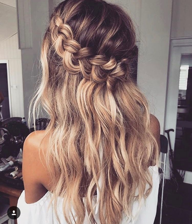 Pin By Kayleigh Cupcake On Beauty Hair Styles Long Hair Styles Waterfall Braid Hairstyle