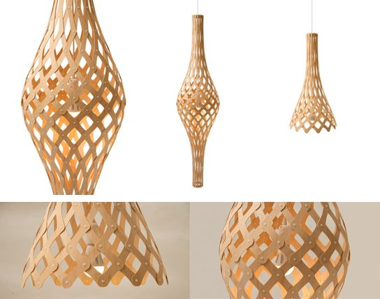 David Trubridge propone diversos diseños de lámparas hechas con