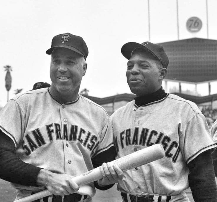 Duke snider and willie mays willie mays giants baseball