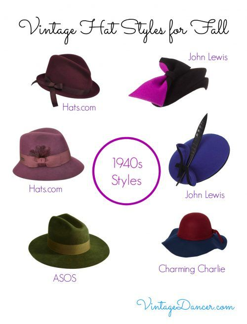 Hat styles of the 1940s varied wildly - from masculine fedoras 2463bce67a2