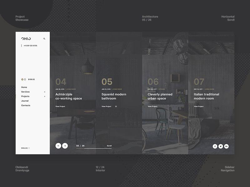 Ohio Concept Project Showcase Web Layout Design Web Design Web Design Inspiration