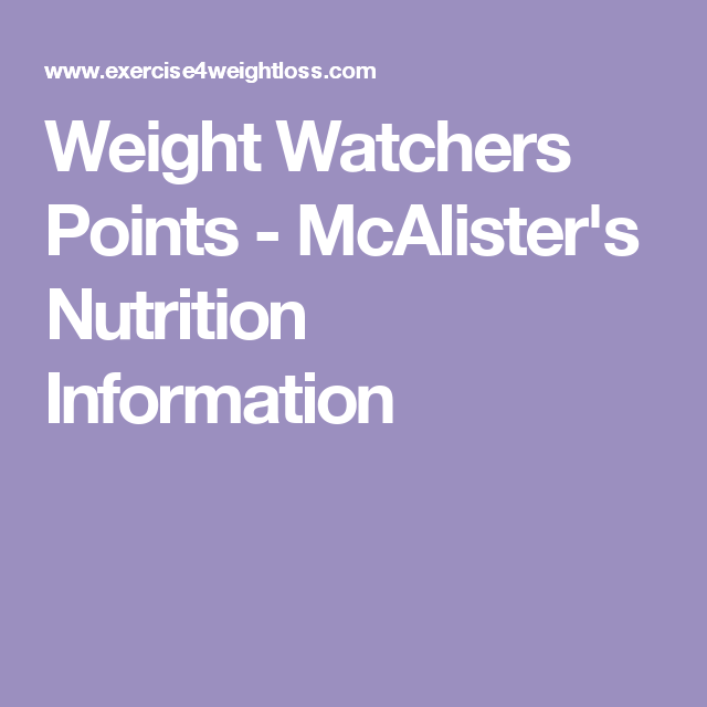image relating to Mcalister's Printable Menu titled Fat Watchers Info - McAlisters Nutrients Content