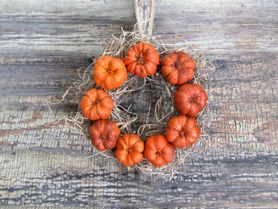 Miniature Putka Pod Wreath By Cattales On Etsy Unique Items Products Fall Decor Wreaths