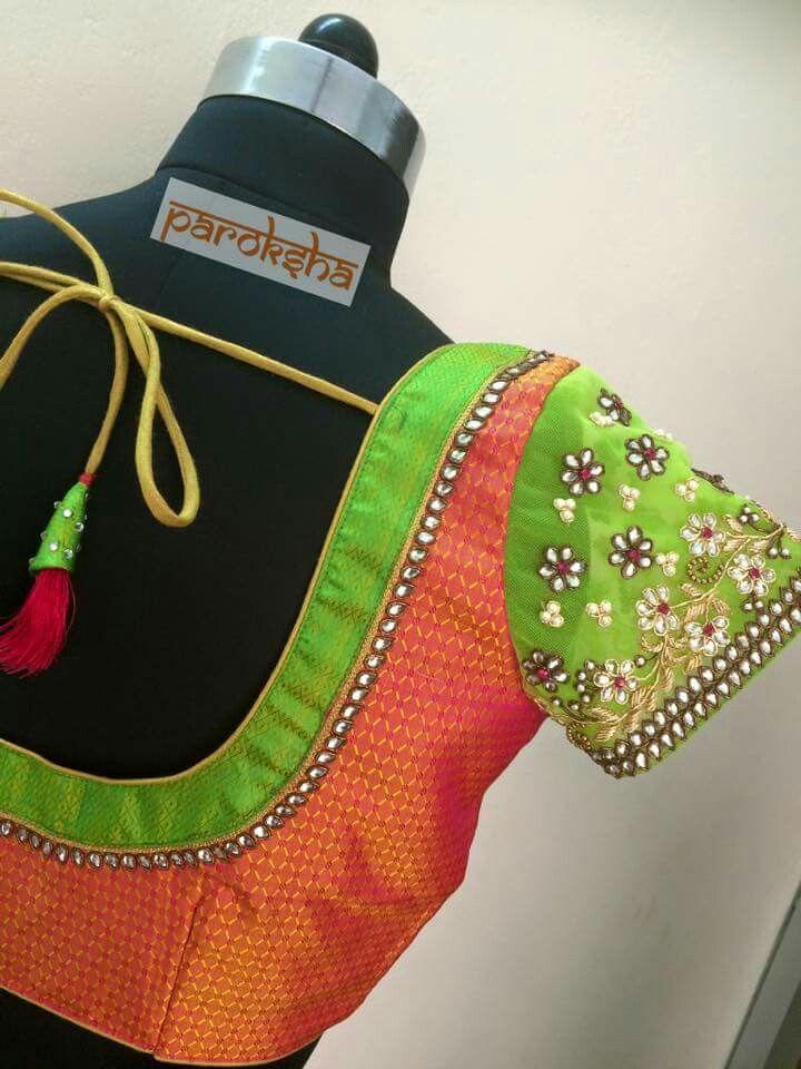 Pin de Sri T en Blouse design   Pinterest   Amar