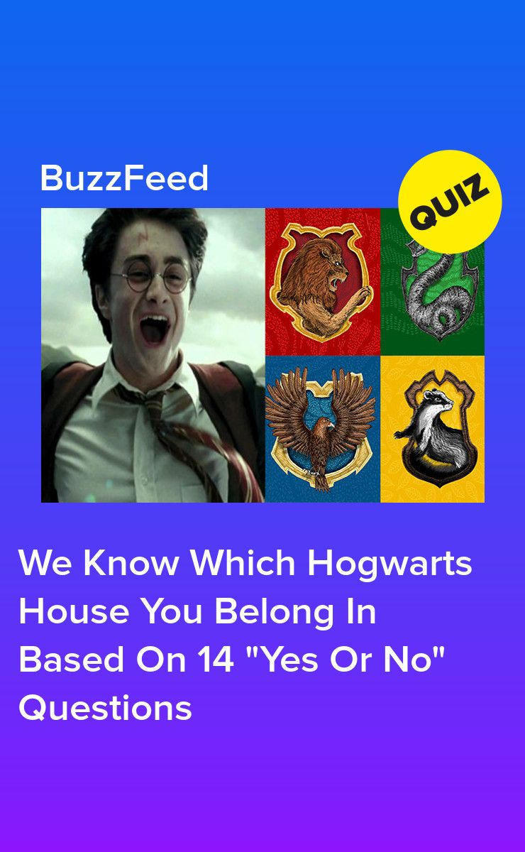 This Yes Or No Quiz Will Reveal Which Hogwarts House You Belong In Which Hogwarts House Harry Potter Quiz Harry Potter Quiz Buzzfeed