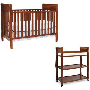 Graco Sarah 4 In 1 Convertible Crib And Changing Table In Cinnamon   Value  Bundle