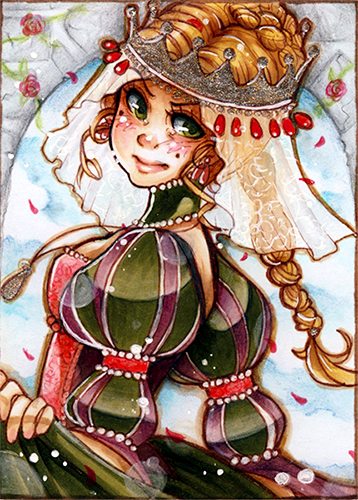 aceo king thrushbeard princess by evayabaideviantartcom on deviantart