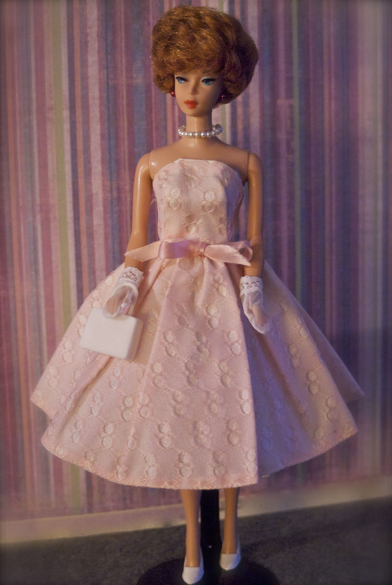 https://flic.kr/p/f1tVwe   Vintage Bubblecut Barbie - Titian   Barbie is wearing a vintage clone dress.