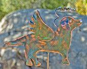 Labrador RetrieverAngel Dog Garden Stake / Metal Garden Art / Pet Memorial / Copper Art / Yard Art / Outdoor Pet Sculpture / Retriever Gift