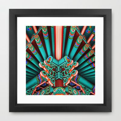 China+Town+Framed+Art+Print+by+kooks+-+$31.00