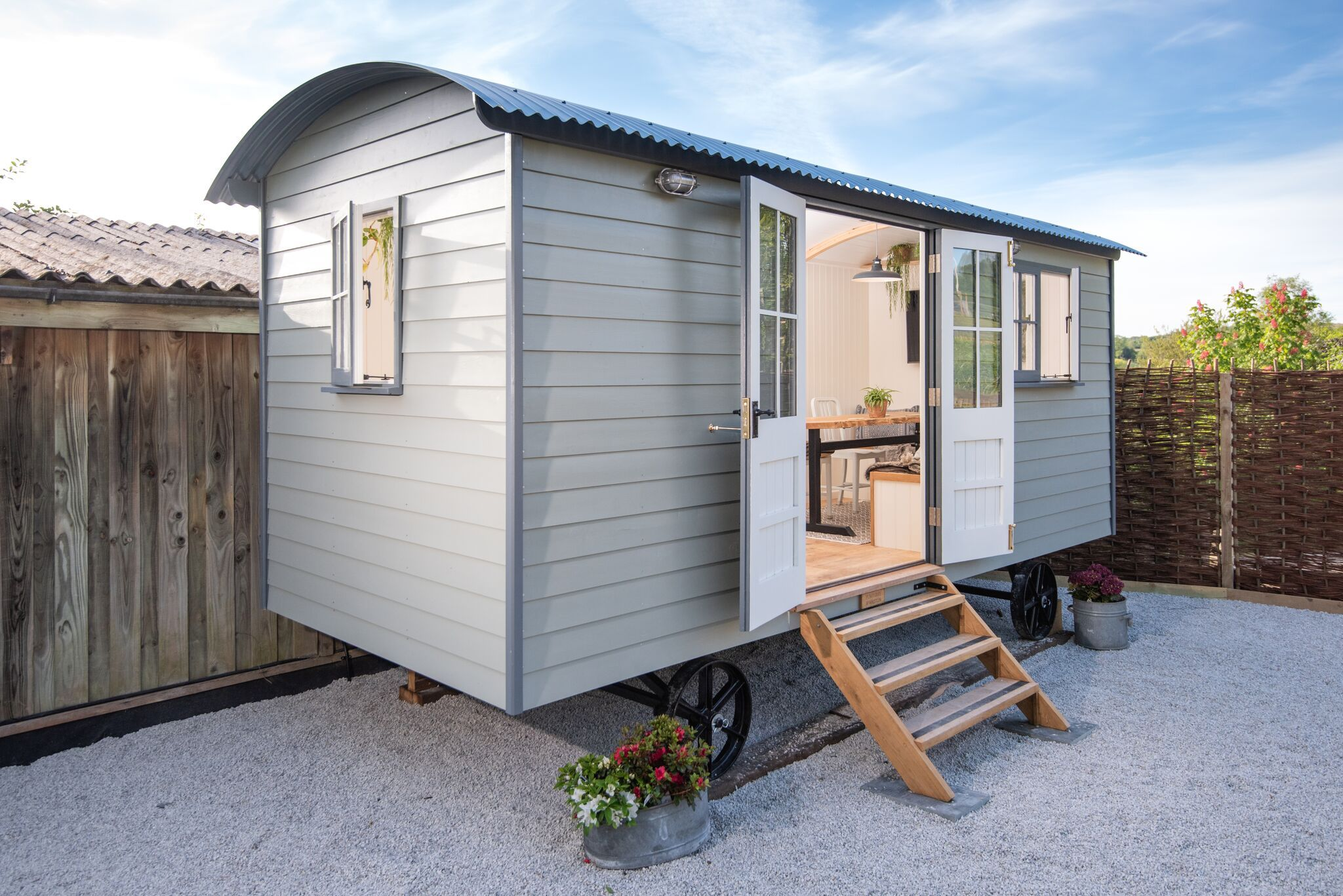 Gallery Shepherds Huts For Sale Cornwall Pumphrey Weston In 2020 Shepherds Hut Shepherds Hut For Sale Backyard Guest Houses